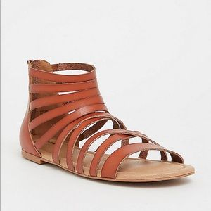TORRID Brown faux leather gladiator sandal NWT 8.5